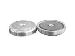 [10428] Ceramic Ferrite Pot Magnet Ø40mm x 8mm - M5 Internal Thread