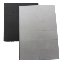 [10485] Magnetic Sheet - Self Adhesive Score Cut 25mm x 12.7mm x 0.7mm - 12 per sheet