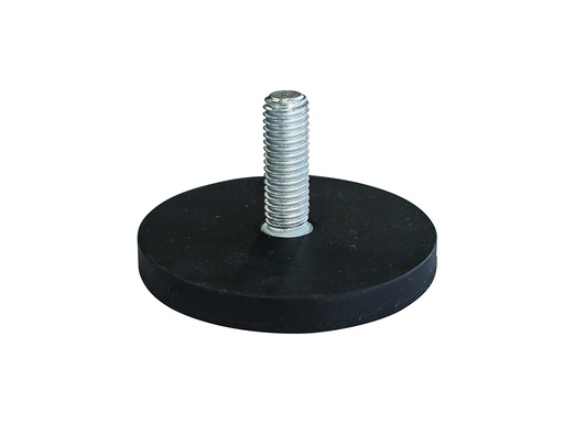 Rubber Encased Neodymium Disc Magnet Ø66mm x 8.2mm - M10 External thread