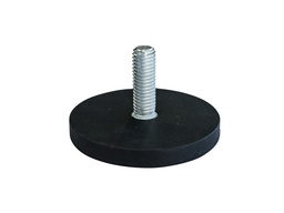 [10675] Rubber Encased Neodymium Disc Magnet Ø43mm x 6mm - M6 External thread